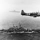 US Navy Douglas SBD Dauntless flying patrol in World War II