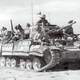 Valentine tank in North Africa during Second Battle El Alamein, World War II