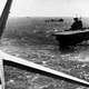 Yorktown conducts aircraft operations, Battle of Coral Sea, World War II