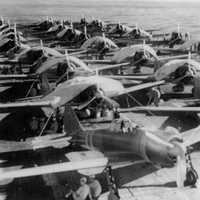 Zuikaku crewmen service aircraft  on Carrier during World War II, Battle of Coral Sea