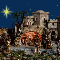 Christmas Decorations with Jesus in Manger