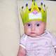 Birthday Baby with Crown on head