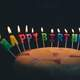 Happy Birthday Candles on Cake image