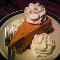 Pumpkin Pie with Whipped Cream on top