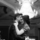 Black and White photo of couple at a ball on valentine's day