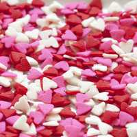 White, Pink, and Red Valentine Candy Pieces