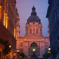 Close-up of Church of Budapest in Hungary