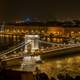 Grand view of Széchenyi Chain Bridge in Budapest, Hungary