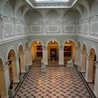 Inner Hall of the Museum of Fine Art, Budapest, Hungary