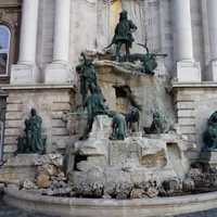 Matthias Fountain in Buda Castle in Budapest, Hungary
