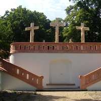 Calvary in the Erzsébet Park in Godollo, Hungary