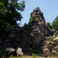 Crown's Hill in the Erzsébet Park in Godollo, Hungary