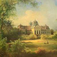 A painting from 1869 representing the palace from Godollo, Hungary
