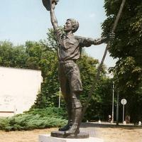 The Boy Scout Statue in Godollo, Hungary