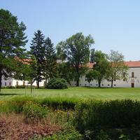 The park of Royal Castle in Godollo, Hungary