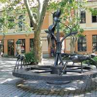 A statue in the city centre in Kaposvar, Hungary