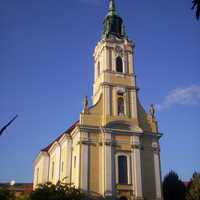 Church of King Béla square in Szekszárd, Hungary