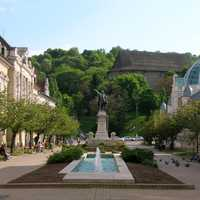 Erzsébet Square in Miskolc, Hungary