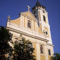 Franciscan Monastery front in Baja Hungary