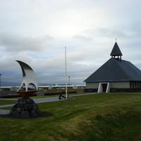 Lutheran Church in the landscape in Þorlákshöfn, Iceland