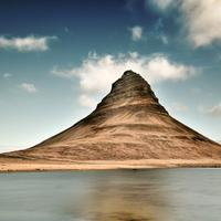 Mountain in the landscape in Iceland