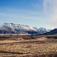 Mountains in the landscape in Iceland