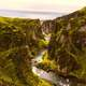 River and bluffs landscape in Iceland