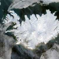 View of Iceland from Space
