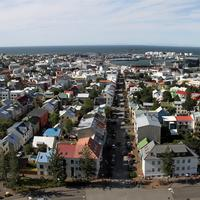 City View of Reykjavik in Iceland