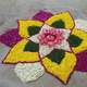 Flower Rangoli in Chennai, India