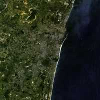 Satellite Image of Chennai, India