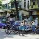 Riksha in the road in Calcutta, India