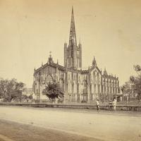 St.Paul's Cathedral in 1865 in Calcutta, India