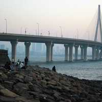 Bandra-Worli Sea Link Suspension Bridge in Mumbai, India