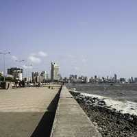 Breach Candy and Nepean Sea Road in Mumbai, India