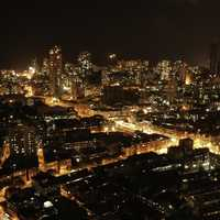 Night Time Cityscape in Mumbai, India