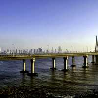 Rajiv gandhi sea link in Mumbai, India