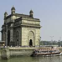 Ships with thousands of people to visit in Mumbai, India