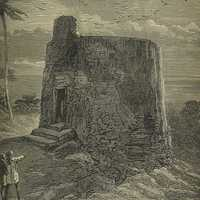 Tower of Silence engraving, Mumbai, India