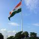 Indian Flag in Central Park in Delhi, India