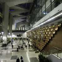 Indira Gandhi International Airport in New Delhi, India
