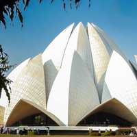 Lotus Temple of the Bahai faith in New Delhi, India