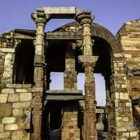 Qutab complex structure in Delhi, India