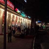 Shops along the innermost Connaught Circle in Delhi, India