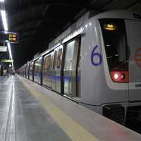 The Delhi Metro in New Delhi, India