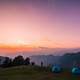 Dusk landscape and sky in Chopta, India