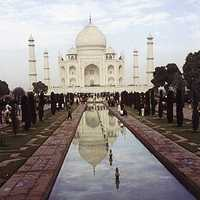 Frontal View of the Taj Mahal, India