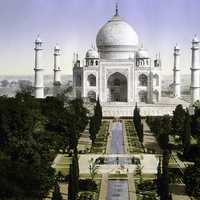 Historical 1890 View of the Taj Mahal in India