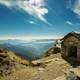House in the Mountains with sky and majestic scenery in Tungnath, India