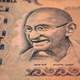 Indian Money with Ghandi on the bill